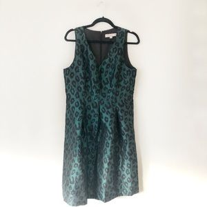 Green Leopard Print Loft Dress